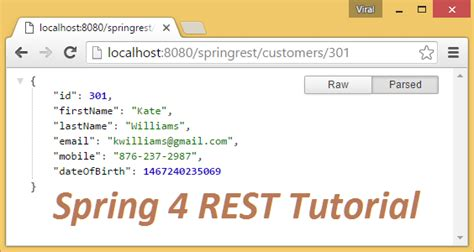 php tutorial restful web services spring 4 mvc rest controller service exle json crud