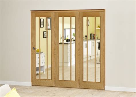 Oak Bifold Doors by 2133 X 2078mm Lincoln Oak 3 Door Roomfold Deluxe 3 X