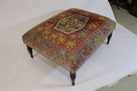 kilim covered ottoman chic antique 19th century kilim covered ottoman bench for
