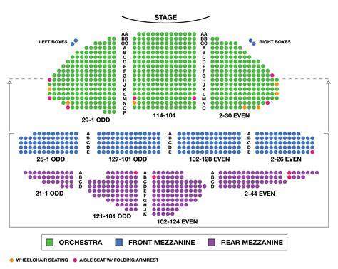 ambassador theatre large broadway seating charts