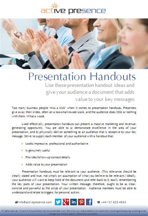 Presentation Handouts Presentation Handout Ideas Presentation Handout Templates