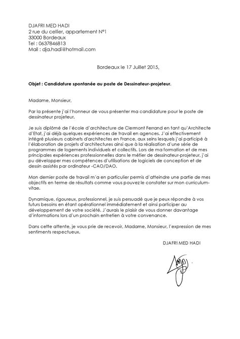 Lettre De Motivation Facteur objet candidature spontan 233 e lettre de motivation 2018