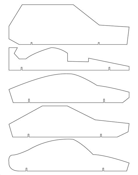 21 cool pinewood derby templates free sle exle