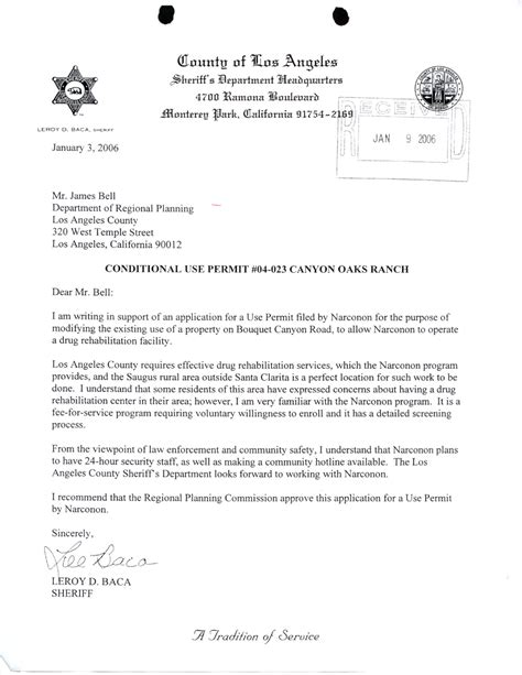Howard Verification Letter Narconon Scientology Invades Leona Valley
