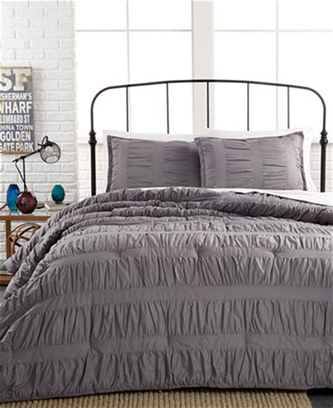 gray twin comforter ruched stripes gray 3 piece comforter and duvet cover sets