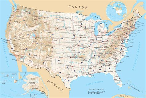 road map of states in usa usa map images