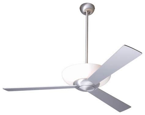 Uplight Ceiling Light 52 Quot Aluminum Finish With Uplight Ceiling Fan Contemporary Ceiling Fans By