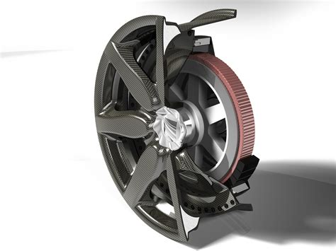 Wheels Motor composite fiber wheel with integrated electric motor fraunhofer lbf