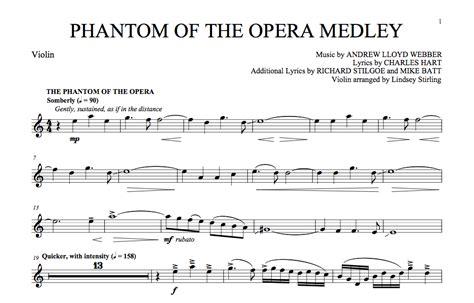 piano tutorial phantom of the opera sheet music violin phantom of the opera medley sheet