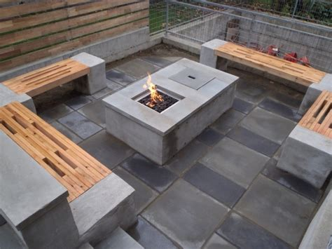 Concrete Patio Table And Benches Concrete Garden Table And Benches Home Design Ideas
