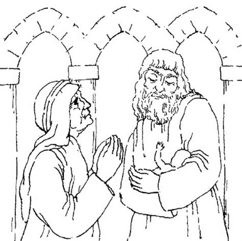coloring pages baby jesus in the temple anna and simeon free colouring pages