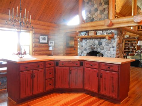 Rustic Red Kitchen Cabinets | rustic red kitchen cabinets barebones ely