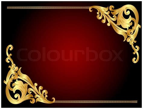illustration frame background with golden angular pattern stock vector colourbox