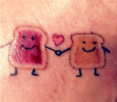 peanut butter and jelly tattoo peanut butter jelly cool tatts