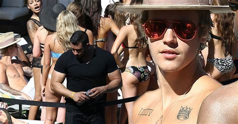 Justin Bieber Is Surrounded By Bikini Clad Girls For Belated St Birthday Celebrations Irish