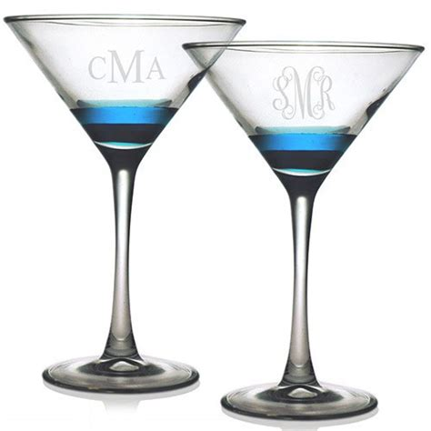 monogrammed barware glasses susquehanna martini glasses monogram set of 4