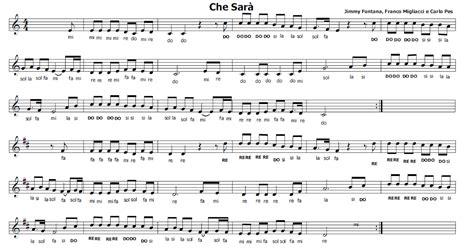 oh bel testo musica e spartiti gratis per flauto dolce sar 224