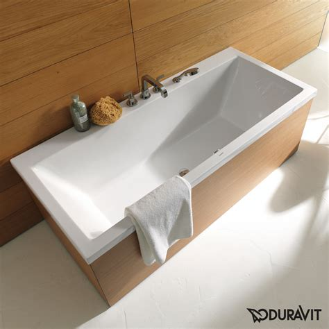 duravit vero bathtub duravit vero rectangular bath built in version or panel