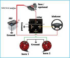 cara memasang relay pada klakson mobil