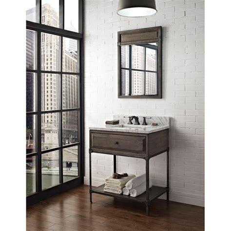 fairmont designs 30 quot toledo open shelf vanity driftwood