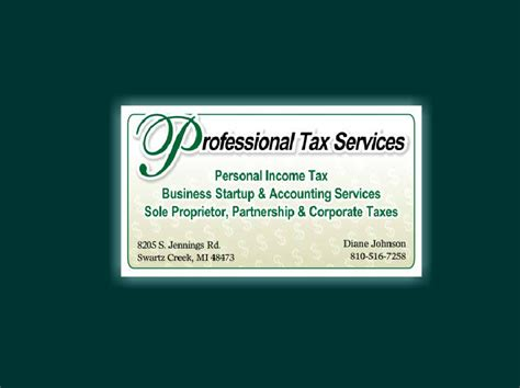 tax professional business cards template professional tax service business card zodiac enterprises