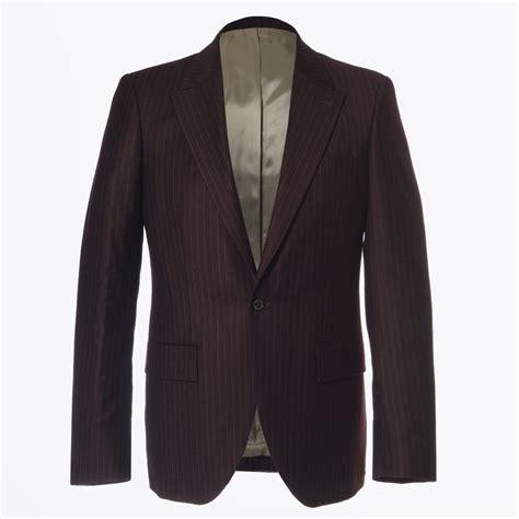 Alisha Maroon Blazer houston pin stripe 2 button designer blazers circle of gentlemen