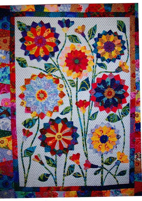 Fish Quilts Patterns by Big Blooms Colorful Pieced Applique Quilt Pattern