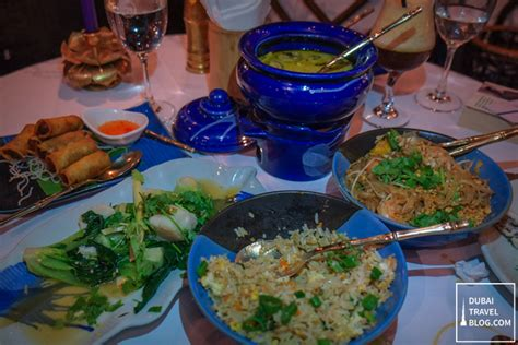 blue elephant cuisine food dinner at blue elephant restaurant in al bustan