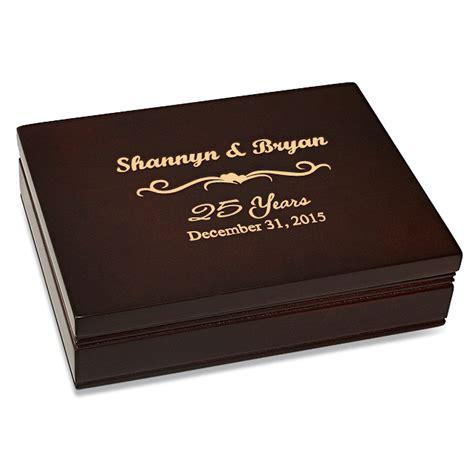B394 Wine anniversary gift rosewood finish card box