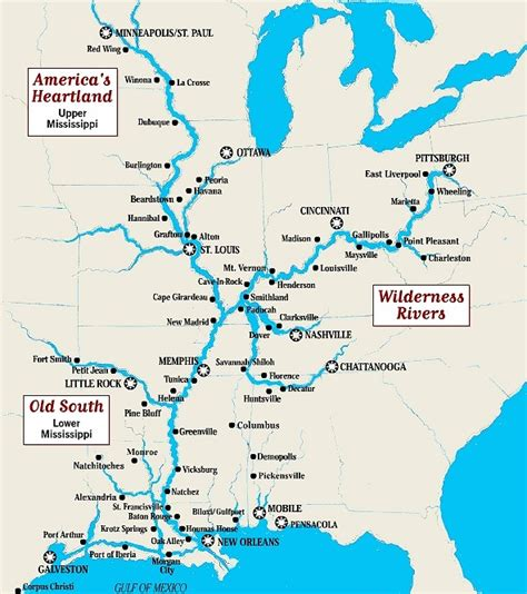 united states map showing mississippi river mississippi river map