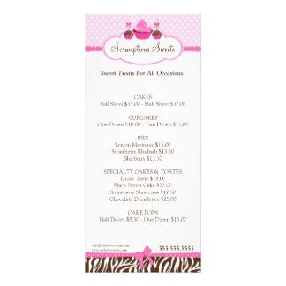bakery flyer templates free rack card cupcakes rack card templates cupcakes rackcard templates