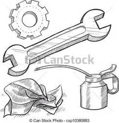 mechanic drawing vetor de mec 226 nico objetos esbo 231 o doodle estilo