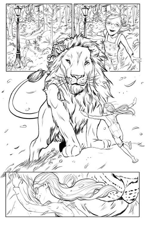 How To Draw Narnia Aslan Narnia Colouring Pages