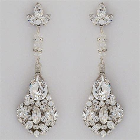 Hochzeit Ohrringe by Erin Cole Bridal Earrings Large Teardrop Chandelier Earrings