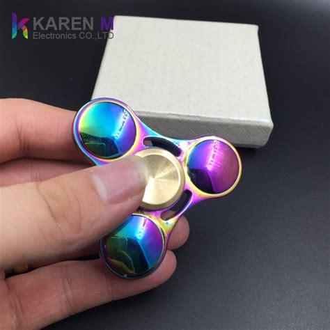 Fidget Spinner Lu Led L Toys Spiner Mainan Jari Dc kleurrijke aluminium spinner fidget spinner rainbow