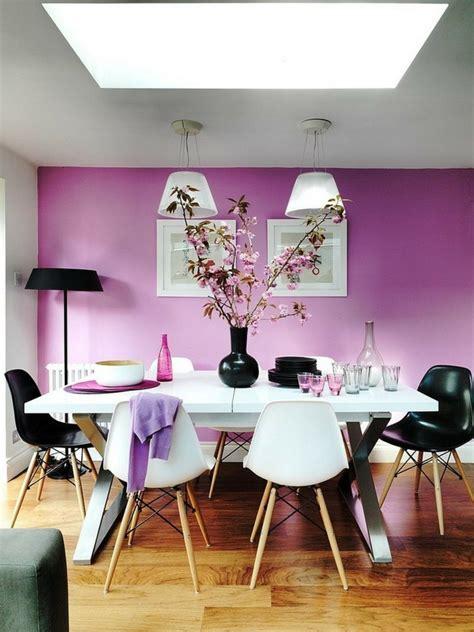ideen wandfarbe wandgestaltung ideen lila wandfarbe wei 223 er esstisch