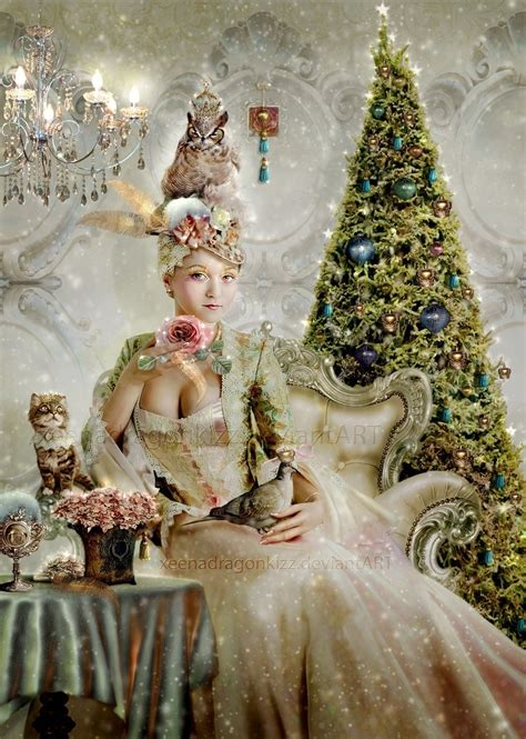 marie antoinette christmas fairy magic goddess hero