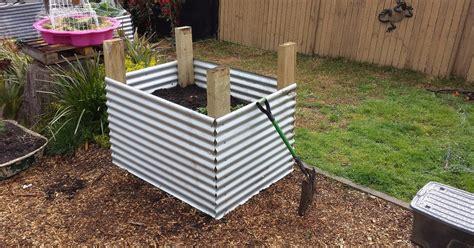 corrugated iron garden another corrugated iron raised garden bed hometalk