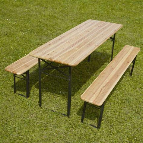 Table Et Bancs Pliants by Table Et Banc Pliant Bois Mobeventpro