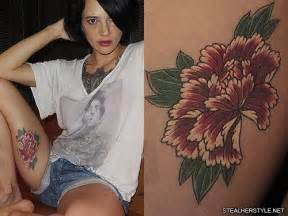asia argento s 21 tattoos amp meanings steal her style