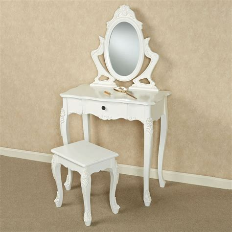 Vanity Table And Stool by Jeannette White Vanity Table And Stool Set