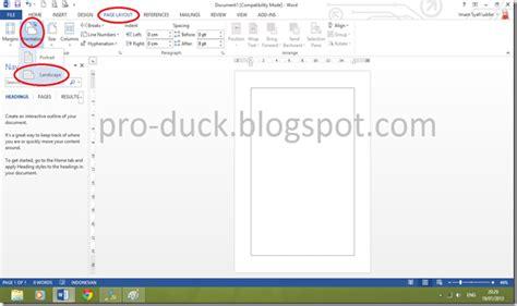 cara membuat satu halaman landscape di word 2010 cara membuat halaman potrait dan landscape dalam satu file