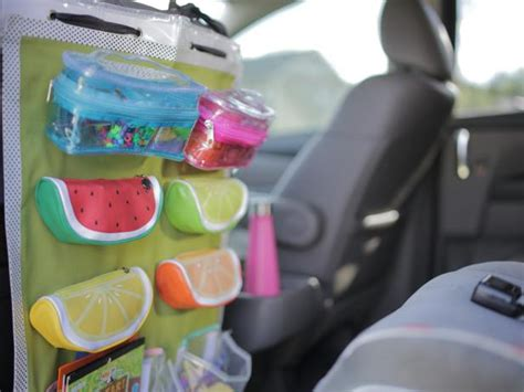 diy small car seat diy backseat car organizer for hgtv
