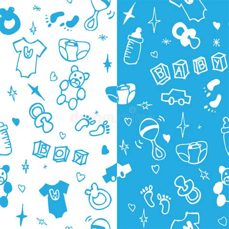 Cle1256 Piyama Baby Motif Boys New Born new born baby boy seamless pattern stock vector image 40892195