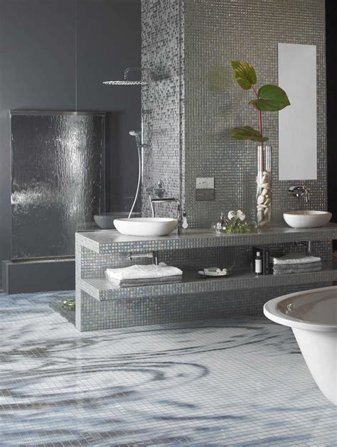 tile decoration black and silver bathroom tiles peenmedia com