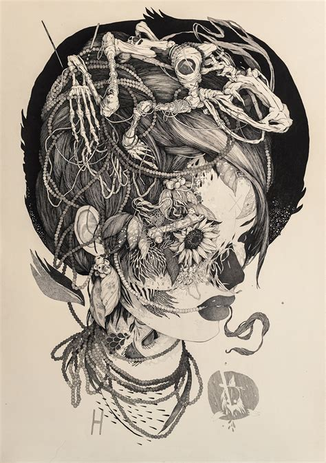 tattoo ink art sprawling tattoo inspired ink drawings by benze colossal