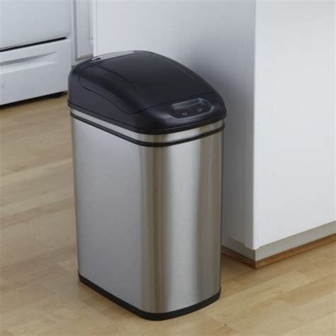 Trash Cans Kitchen by Nine Dzt 30 1 Touchless Stainless Steel 7 9 Gallon