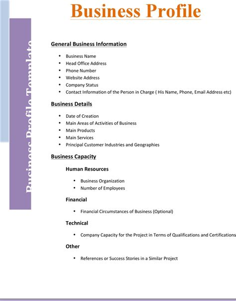 template business business profile template 2 for free tidyform