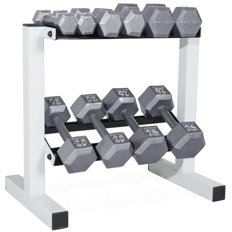 Cap Dumbbell Rack by Cap Barbell Solid Hex Dumbbell Set With Rack