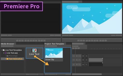 how to save title card as template premiere how to use live text templates from after effects in